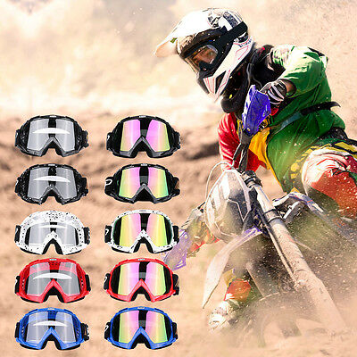 Motorcycle Helmets Motocross Scooter Glasses Off Road Goggles Clear Lens Eyewear