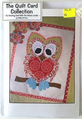 Holly The Owl She's A Hoot Quilt Card Pattern Embroidery / Stitchery Design