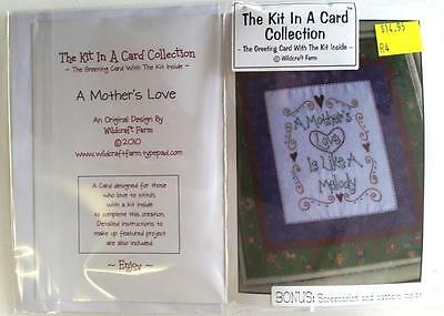 Kit In A Card A Mother's Love Pre-Printed Embroidery / Stitchery Design Thread