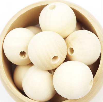 Wholesale Market Wood Spacer Beads Round Ball Natural 120-240-660pcs-Round-pear