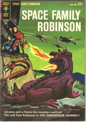 Space Family Robinson Lost In Space Comic Book #7 Gold Key 1964 VERY FINE