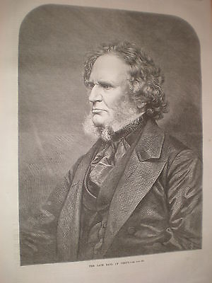 The late Earl of Derby 1869 print