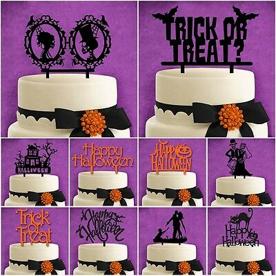 Personalized Halloween Acrylic Cake Toppers Wedding Anniversary Party Decor Gift
