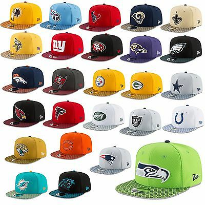 New Era Cap 9Fifty Snapback Nfl Sideline 2017 Seahawks Patriots Raiders