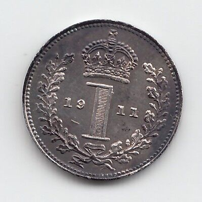 Very Rare George V 1911 Proof Silver Maundy Penny 1d