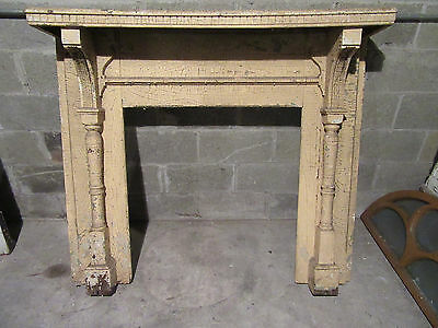 ~  Ornate Antique Oak Fireplace Mantel 54 X 48  ~  Architectural Salvage