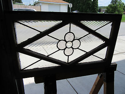 ~ Antique Stained Glass Transom Window 31 X 17 1 Of 2 ~ Architectural Salvage ~