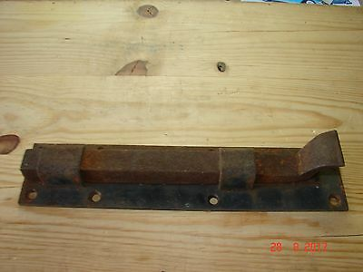 "Antique 9 1/2"" Barn Door Iron Sliding Bolt Latch Lock, Andover Ma"
