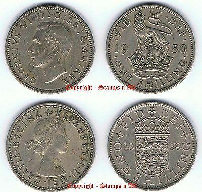 1/- 1 English Shilling 1947 to 1966 Choose - DISCOUNTS UP TO 80% AVAILABLE