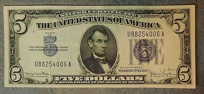 1934 D $5 Silver Certificate Xf Condition #u88254006A