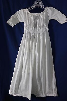 "1880's Christening Gown-Eyelet Trim- 32"" Long- Hand-stitched- VG- BEAUTIFUL-SALE"