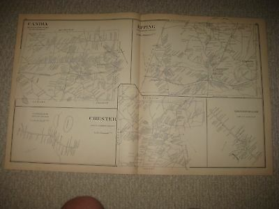Antique 1892 Deerfield Candia Epping Chester Fremont Epping New Hampshire Map