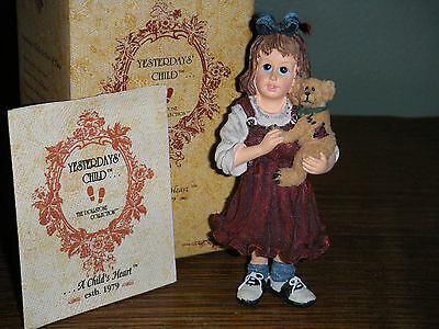 Boyds Bears Dollstone Ornament  ~SAMANTHA WITH CONNOR...BEST FRIENDS~