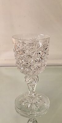 ABP Antique American Brilliant Cut Glass Wine Stem  Russian