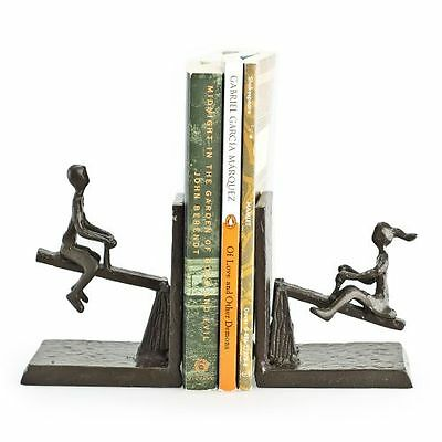 Danya B ZI13023 Bronze Bronze Children On A See-Saw Bookends - Set of 2