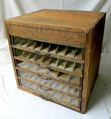 LOCAL PICK UP ONLY Antique 5 Drawer Spool Cabinet BUCILLA BOIL PROOF COTTONS