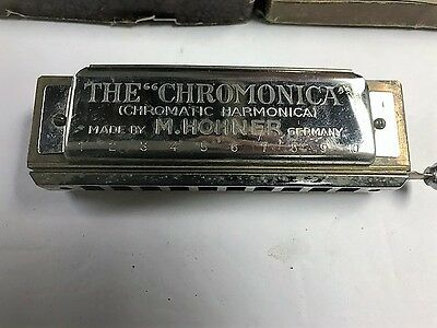 ANTIQUE PRE WAR HOHNER CHROMONICA 10 HOLE HARMONICA Key of C - MADE IN GERMANY