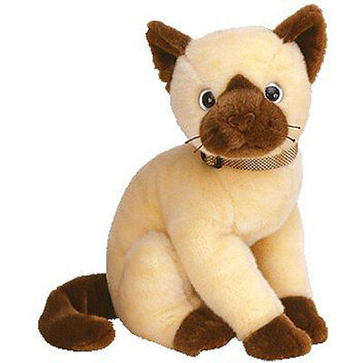 TY Beanie Buddy - SIAM the Cat (10 inch) - MWMTs Stuffed Animal Toy