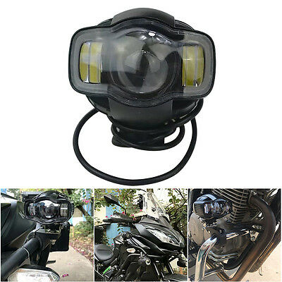 1PC 20W LED Spot Fog Lamp Auxiliary Driving Lights For BMW Motorcycle Bike Light