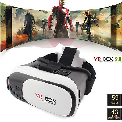 3D 2.0 VR Box Virtual Reality Glasses Cardboard Movie Game for Samsung Phone