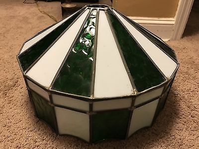 Hanging Tiffany Style Stained Glass Shade Lamp Antique Light Bar Circus Vintage