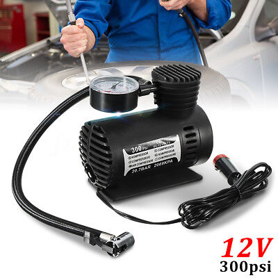 DC12V Mini Car Electric Compact Compressor Pump Bike Tyre Air Inflator 300PSI