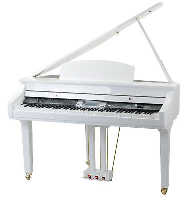 88-Tasten E-Flügel Digital Piano E-Klavier E-Piano Grand Piano 559 Sounds Weiss