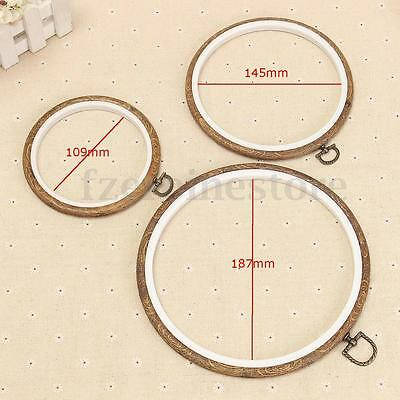 Two Layer Round Wooden Hoop/Ring Embroidery Frame Cross Stitch Sewing Tool S/M/L