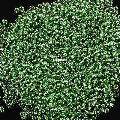 25 grams 2mm glass seed beads beautiful color green jewelry design finding 8733