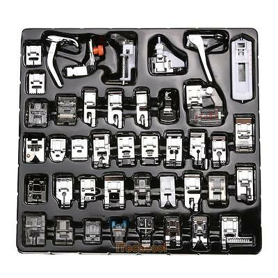 42 PCS Domestic Sewing Machine Foot Feet Snap On For Brother Singer Set #T1K