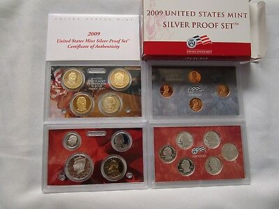 2009  Us Mint ***silver*** Proof Coin Set With Box & Coa