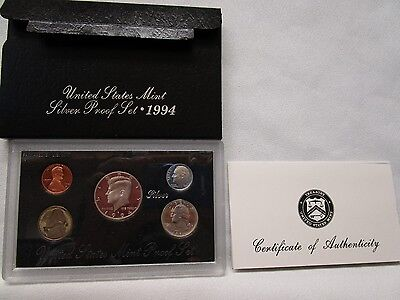 1994 Us Mint ***silver*** Proof Coin Set With Box & Coa
