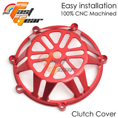 Red Ducati Billet CNC Clutch Cover ST2 ST3 Monster S4R Streetfighter CC21