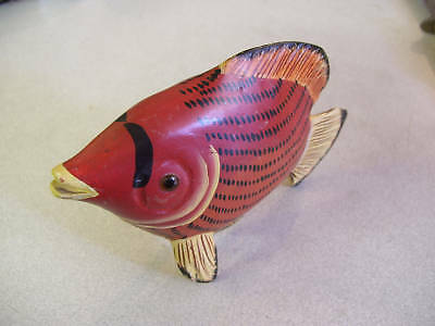 Amazing Hancarved and Handpainted Wooden Fish