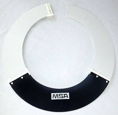 MSA 697410 SUN SHADE For V-Gard & Topgard Protective Helmets Smoke/White >NEW<