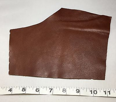 RUST BROWN Cow Leather Hide Piece #2 8x6""