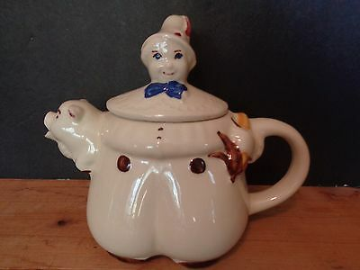 Vintage Shawnee Ceramic Teapot Tom The Piper's Son USA