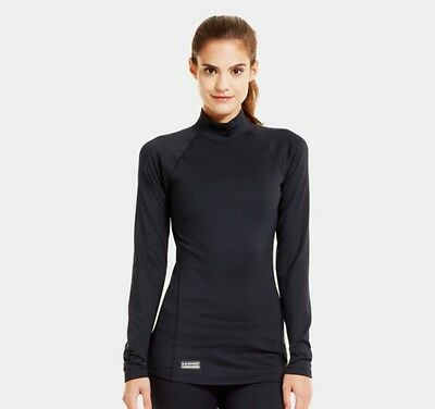 Under Armour 1244396 Women's Black CGI Evo Mock Long Sleeve Shirt - Size Small