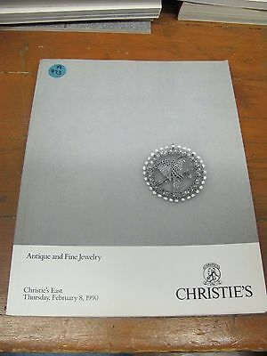 A973 Old Pawn Christie's East Antique And Fine Jewelry Feb.1990 Magazine
