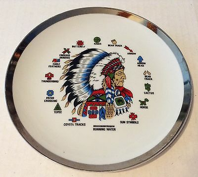Native American Indian Collector Plate RUNNING WATER Chief