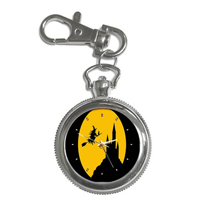 Witch Witches Themed Round Keychain Watch **great Item**