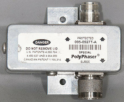PolyPhaser 095-0927T-A GPS Type-N Coaxial Lightning EMP/Surge Protector/Filter