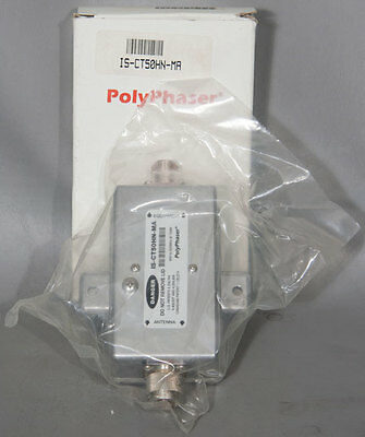 NEW PolyPhaser IS-CT50HN-MA Cellular/Paging Combiner Coaxial EMP/Surge Protector