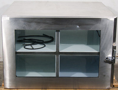 "Stainless Steel Cleanroom Pass Through (Clean Room) 4 Chamber: 9.625""x15""x36"""