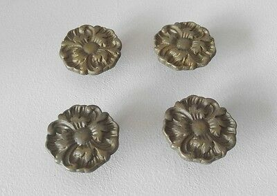 4 VNTG Ornate Brass French Provincial Rococco Dresser Drawer Handles / Pulls