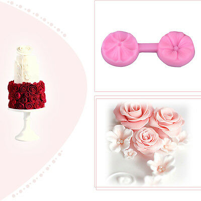 3D Rose Flower Fondant Cake Chocolate Sugarcraft Silicone Mould Mold Tools