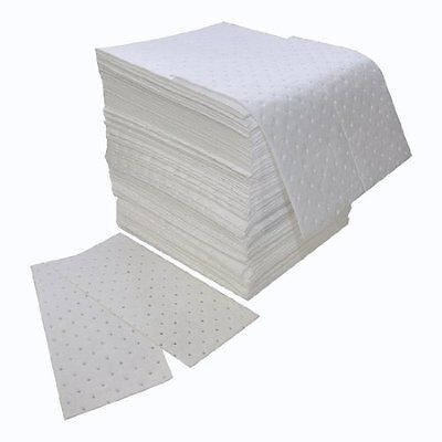 """Spilfyter Z-75 MRO White Oil Only Double Weight Sorbent Pad, 18"""" Length x 16"""""""