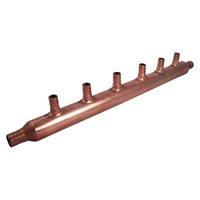 SharkBite 22788 6-Port Open Copper PEX Manifolds, 1-Inch Trunk, 3/4-Inch,