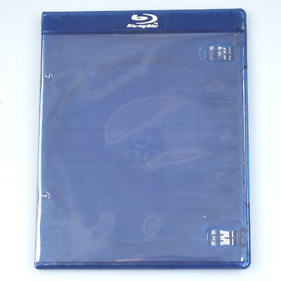 1pc Empty Blu-ray Logo Case 7mm Single CD DVD Disc Storage Replacement Dark Blue