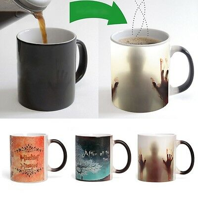 Halloween Zombies Heat Sensitive Color Changing Ceramics Coffee Mug Magic Cup